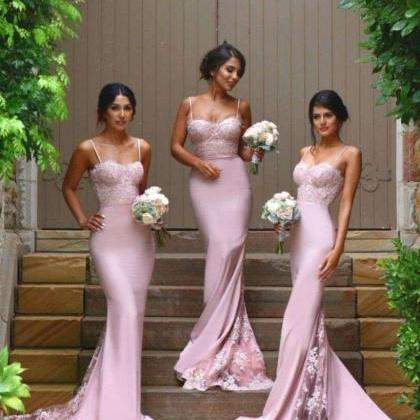 Long New Style Bridesmaid Gown,Blu..
