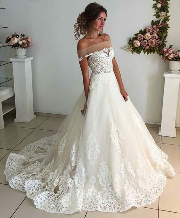 eda7de2026 Affordable Lace Unique Wedding Dress