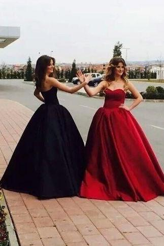 Sweetheart Prom Gown,Ball Gown Prom Dress,Satin Prom Dress,Custom Made Evening Dress,Sleeveless Prom Dress, Charming Prom Dresses, New Arrival Prom Dress 2017,Prom Dresses
