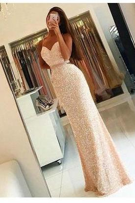 New Arrival Prom Dress,Sweetheart Prom Dress,Sequins Prom Dress, Long Woman Dresses,Mermaid Prom Gown,Charming Prom Dress 2017,Elegant Prom Dress,Prom Dresses