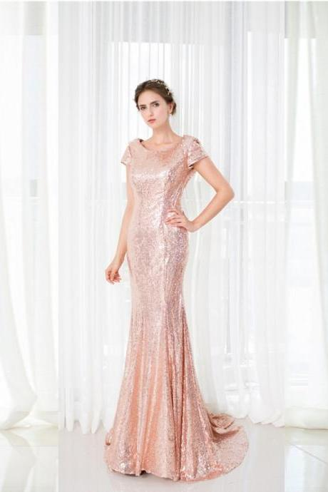 New Arrival Prom Dress 2017,Fashion Prom Gown,Long Sequins Evening Dress,Sexy Open Back Party Dress,Adult Dress,Chiffon Mermaid Prom Dress,Prom Dresses