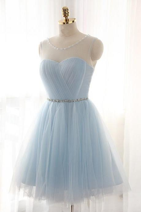 Elegant Sweet 16 Cocktail Dress,Tulle Short Prom Dresses,Charming Homecoming Dresses,Homecoming Dresses,SV520