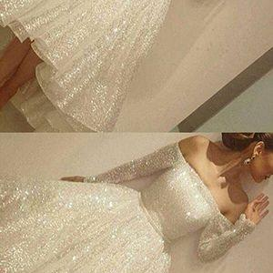 Sparkle White Prom Dress,Sequins Prom Dresses,Lace Prom Dress,Sexy Prom Gown,Off-The-Shoulder Prom Dress,Long Sleeves Party Dress,Short Prom Dress,Prom Dresses