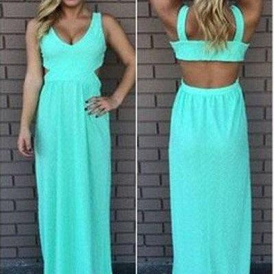 Long Blue Prom Dress,Backless Prom Dress,Chiffon Prom Dress,Beautiful Evening Dress,Sweetheart Prom Gown,Sleeveless Party Dresses,Charming Prom Dress,Prom Dresses